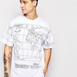 Világtérképes póló