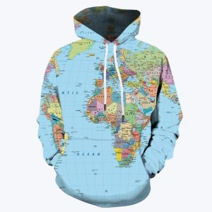 Világtérképes pulóver